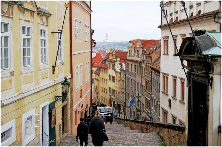 Лестница к Пражскому Граду., Рождественская Прага.