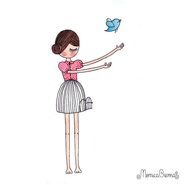 Menina Moça: Ilustrações- Mônica Crema