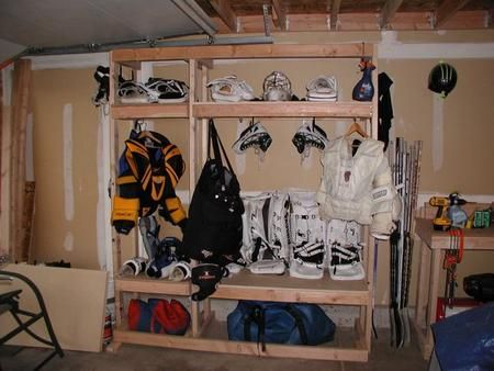 many ideas for build your own lockers/equipment storage