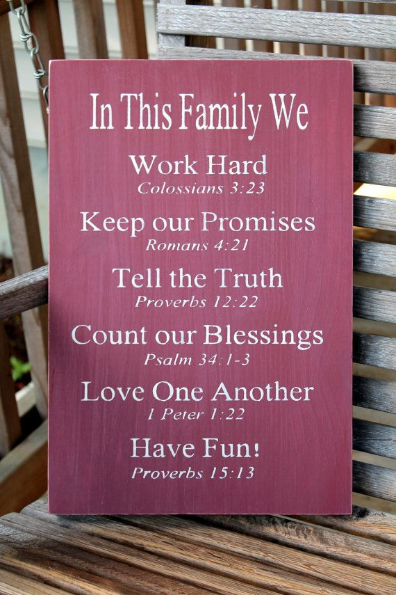 Christian Family Rules Sign Bible Verses by PreciousMiracles❤️