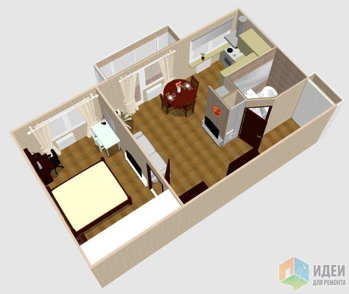 перепланировка хрущевки 2 комнаты смежные варианты фото ...