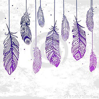 Belle illustration des plumes