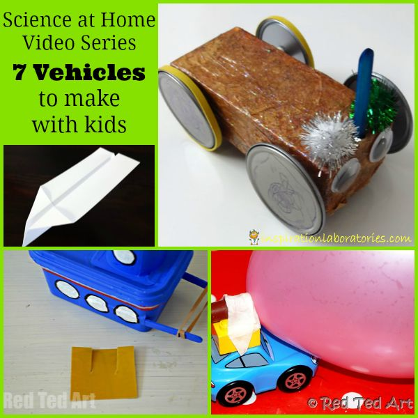 Science at Home: Vehicles - In this episode of the Science at Home video series, we are talking about vehicles - how you can make them with your kids and do science together.