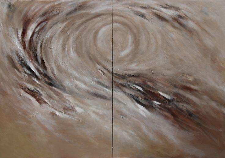 no.30 달은 구름과 파도사이에 떠 있었다 그리고 바람은 불었다 162.1 x 224.2 oil on canvas 2014