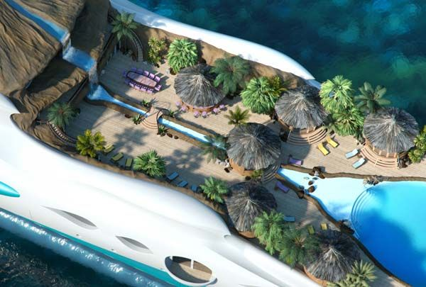 Marvelous Tropical Island Yacht for New Level of Luxury : Tropical Island Yacht 2