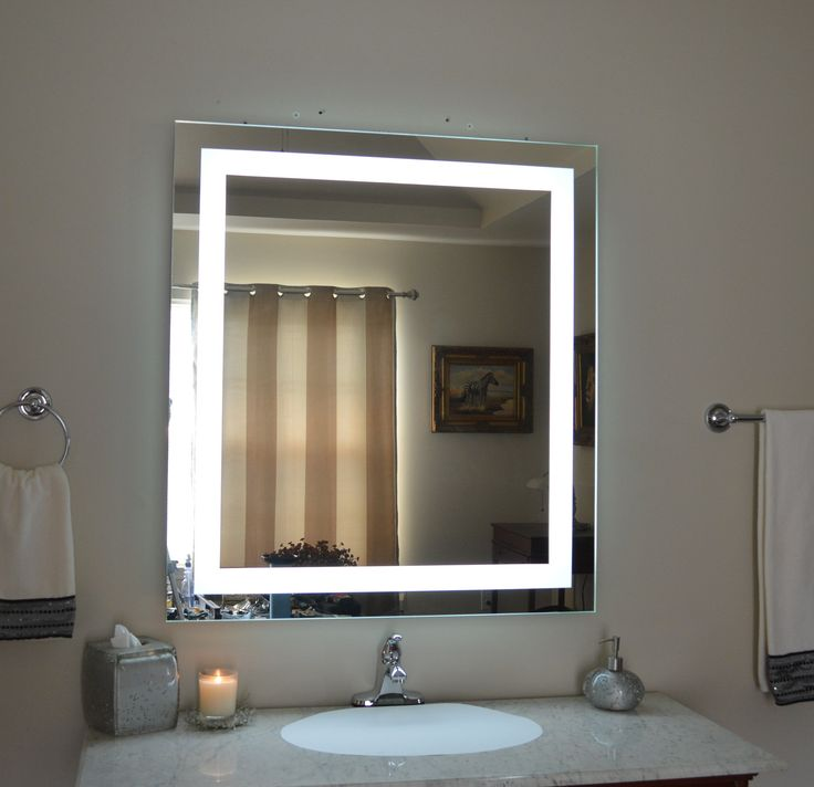Wall Mounted Lighted Vanity Mirror Led Mam83636 Commercial