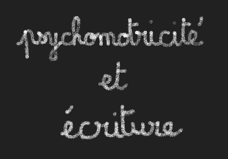"""Plaquette """"Psychomotricité et troubles de l'écriture"""""""