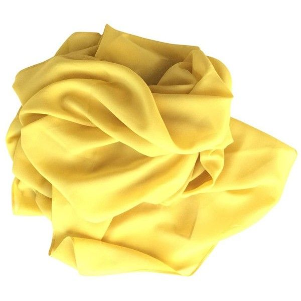 SCARF JOHN GALLIANO (€75) ❤ liked on Polyvore featuring accessories, scarves, lightweight scarves, lightweight shawl, sheer scarves, yellow scarves and sheer shawl