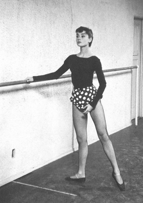 """""""My first dream was to be a ballet dancer. I didn't know about success at all. You can only hope to get a combination of happy work and a happy life"""" Audrey Hepburn"""