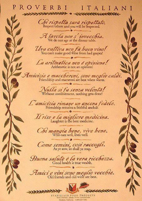Italian wisdom                                                                                                                                                                                 More