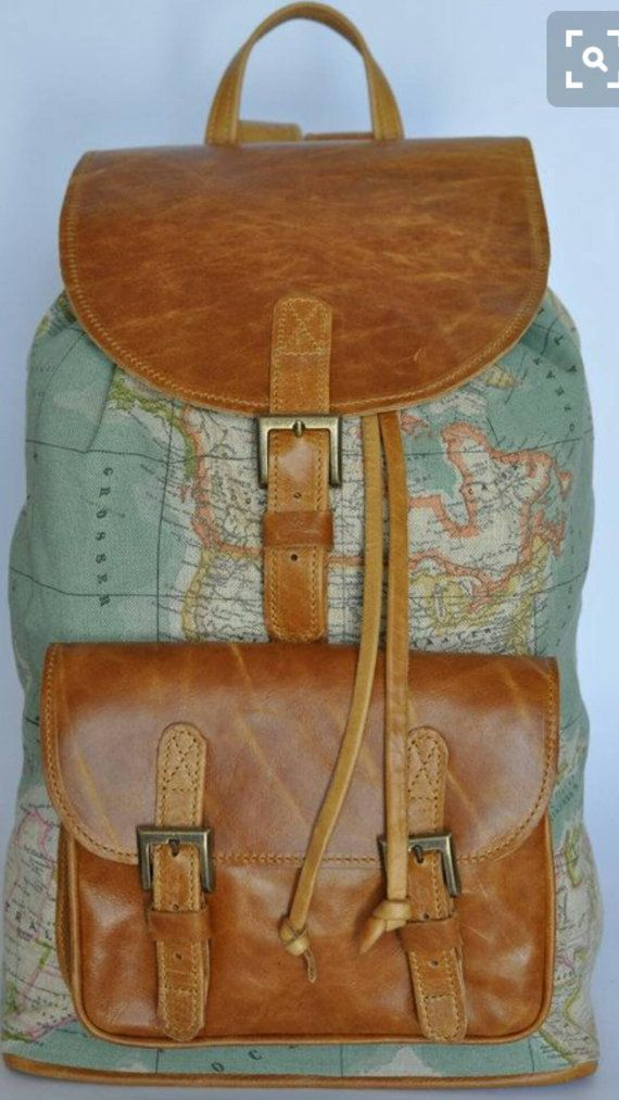 37 best leather backpacks images on pinterest etsy shop leather check out this item in my etsy shop httpsetsy cool backpackscanvas backpacksleather backpacksworld map fabrichipster gumiabroncs Image collections