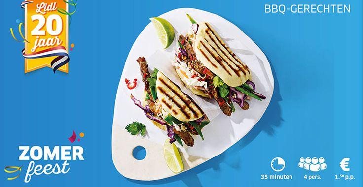 Recept voor Aziatische Buns met varkensvlees van de BBQ, koolsla en sugarsnaps. #lidl #bbq #aziatisch