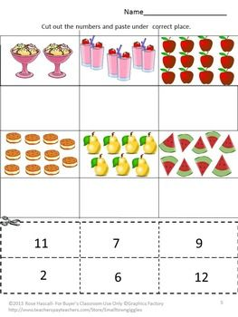 Number Names Worksheets kindergarten cut and paste worksheets free : Follow me, Activities and The o'jays on Pinterest