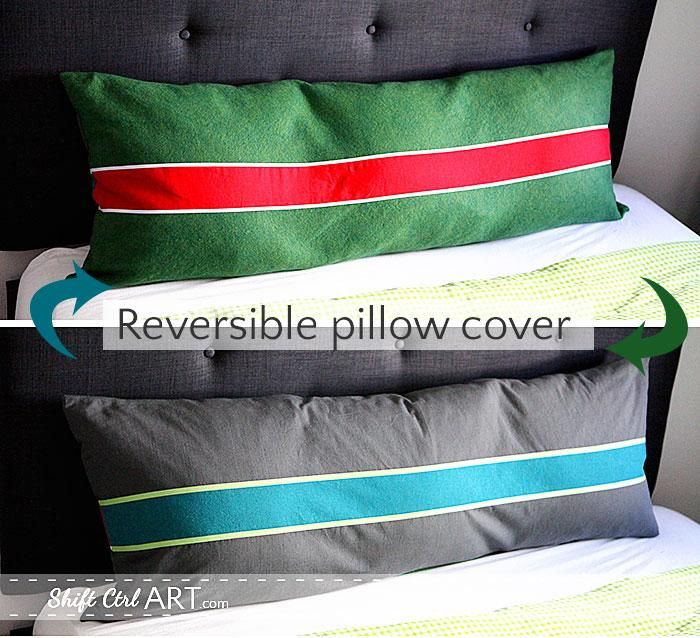 diy tutorial diy pillow shams diy reversible pillow cover with a graphic stripe