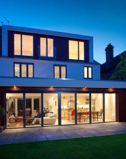 Full width rear house extension in London.