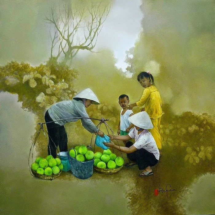 Dang Can Kreativ Risunki Fentezi Vietnam Painting Art Painting Oil Singapore Art
