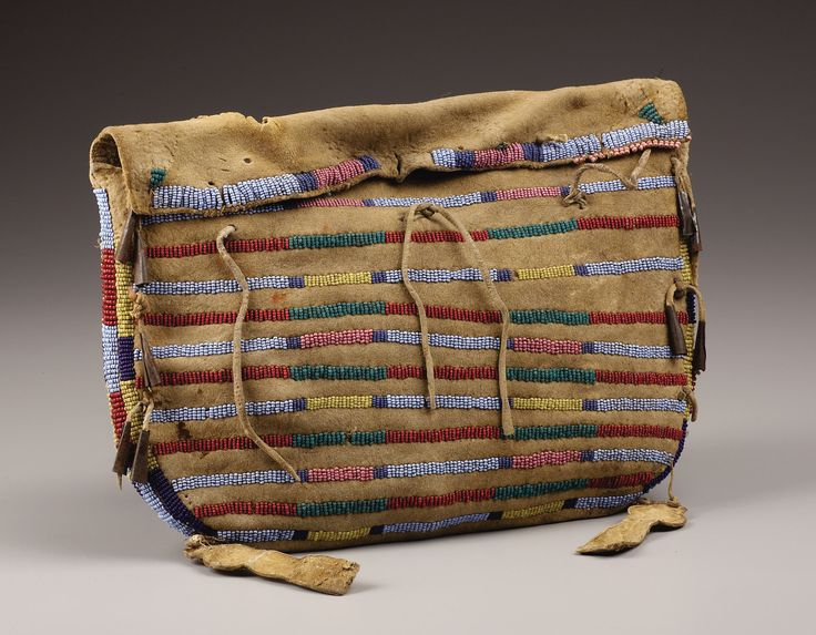 A CROW BEADED HIDE TIPI BAG. . c. 1875. ... American Indian | Lot #77312 | Heritage Auctions