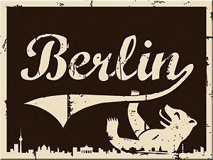 MAGNET - BERLIN BERLINER BÄR BRAUN - 8 x 6 cm - NEU