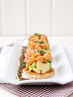 Jaleo en la Cocina: Hoy... ¡Tartar individual de salmón y aguacate!