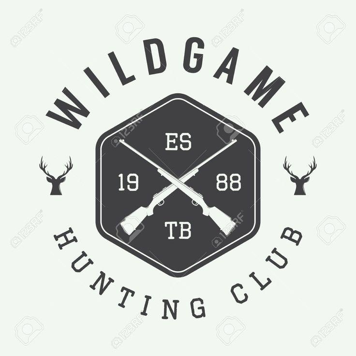 45691106-Vintage-hunting-label-logo-or-badge-and-design-elements-Vector-illustration-Stock-Vector.jpg (1300×1300)