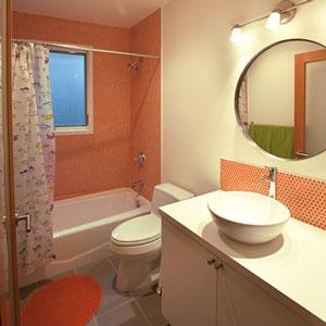 ModDotz Porcelain Penny Round tile in Mango: Pennies Tile, Tile Shower, Dreams Bathroom, Bathroom Remodel, Tile Bathroom, Pennies Round, Bath Ideas, Bathroom Tile, Kids Bathroom Layout