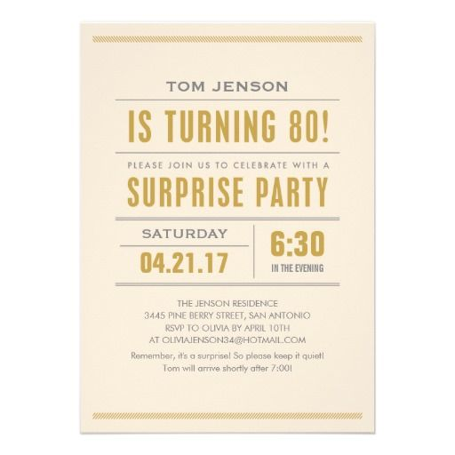 16 best surprise 80th birthday party invitations images on big type 80th surprise birthday party invitations filmwisefo Image collections