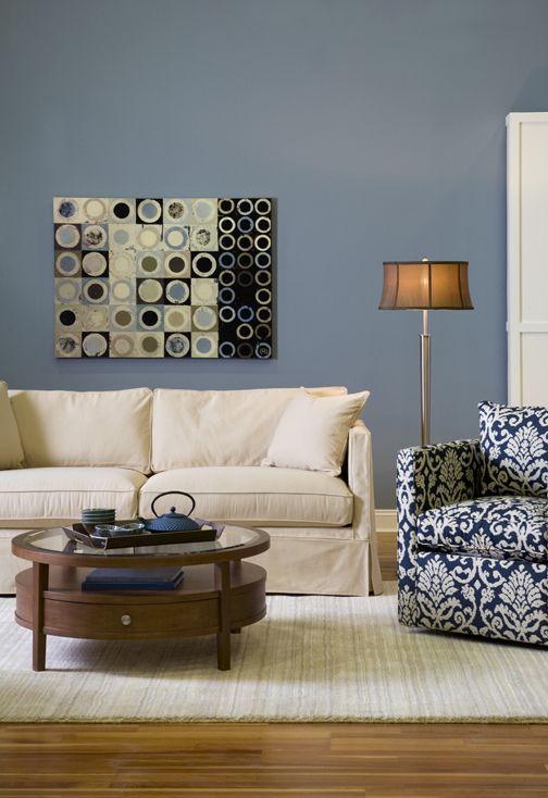 Blue Living Room Love This Color Curated By Modern Paint