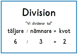 Division plansch