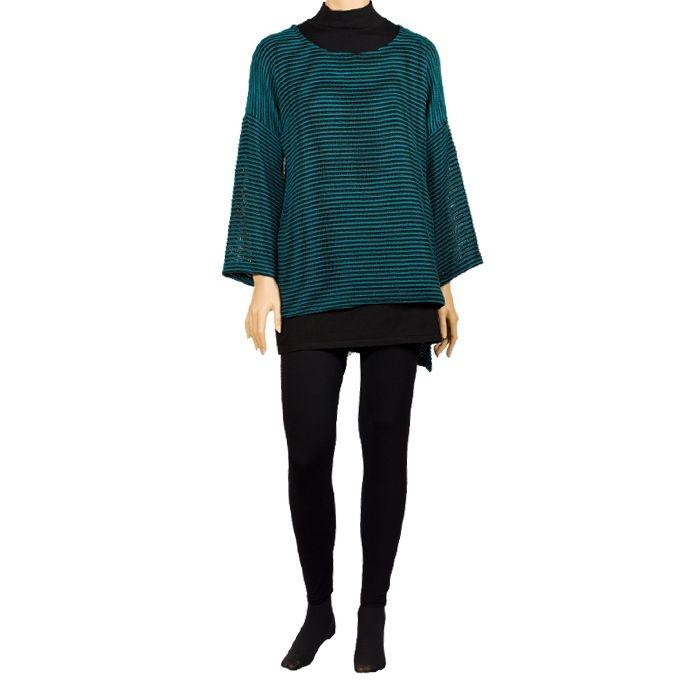 Jersey oversize Marzella en color turquesa #Casual #Outfit #MadeInBarcelona