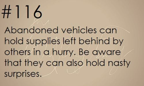 Zombie Apocalypse Survival Tip #116….  Find out more by checking out the photo link