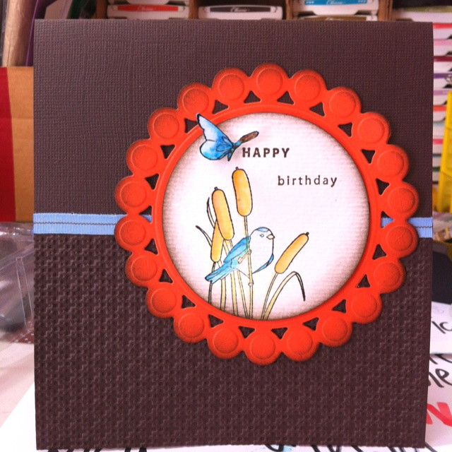 Making a card for blokes is soooo hard.... I made this for a friend's brother