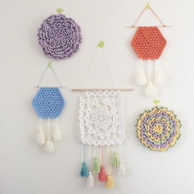 25 best Crochet wall hangings ideas on Pinterest Wall hangings
