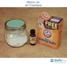 Baking soda is a great natural deodorizer. You can use it as an inexpensive air freshener, but you may not want a box of Arm and Hammer sitting on your bathroom counter. Here is an easy and cute way to make a baking soda air freshener.