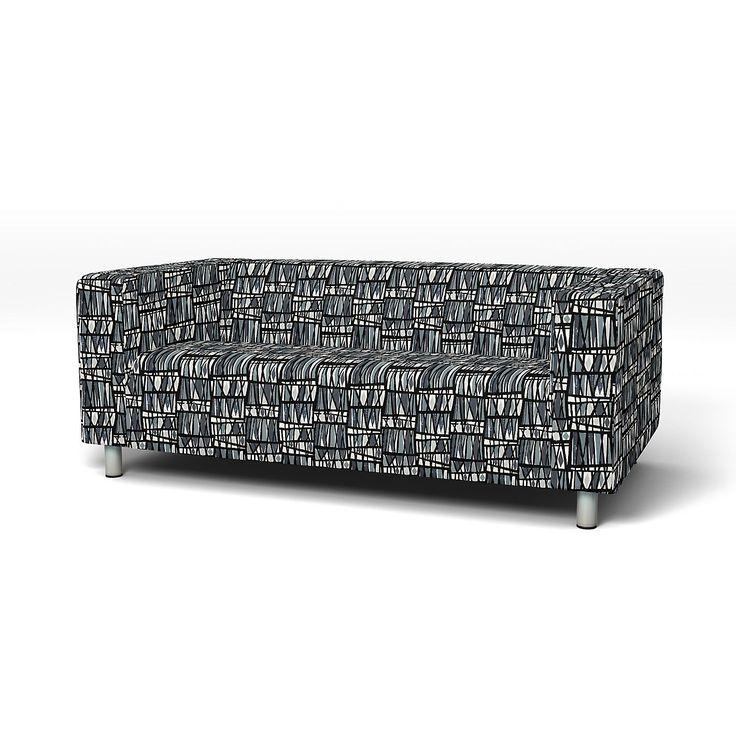Klippan, Sofa Covers, 2 seater, Regular Fit Folklore Blue/Pink
