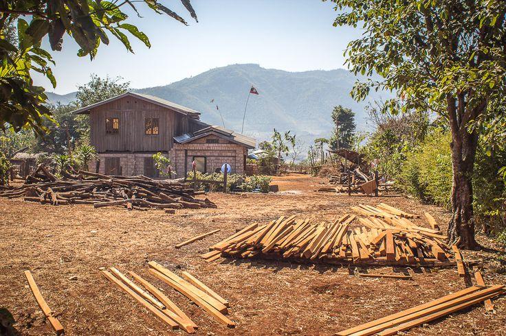Birmanie Shan State villages, Myanmar