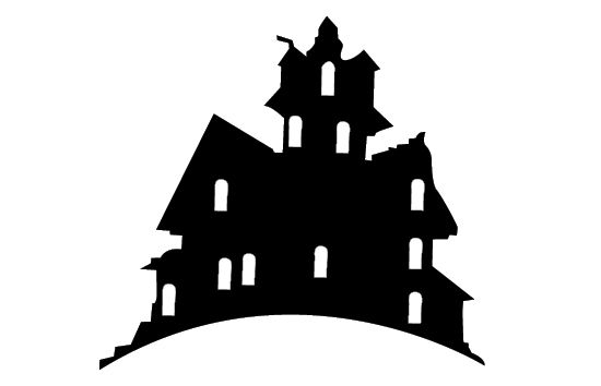 Free Haunted House Silhouette Vector Clip Art Silhouette