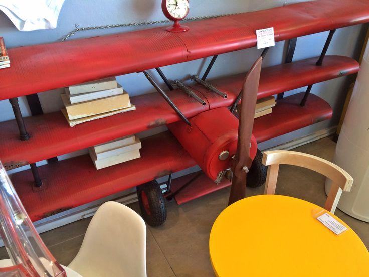 Airplane bookshelves for kid's room