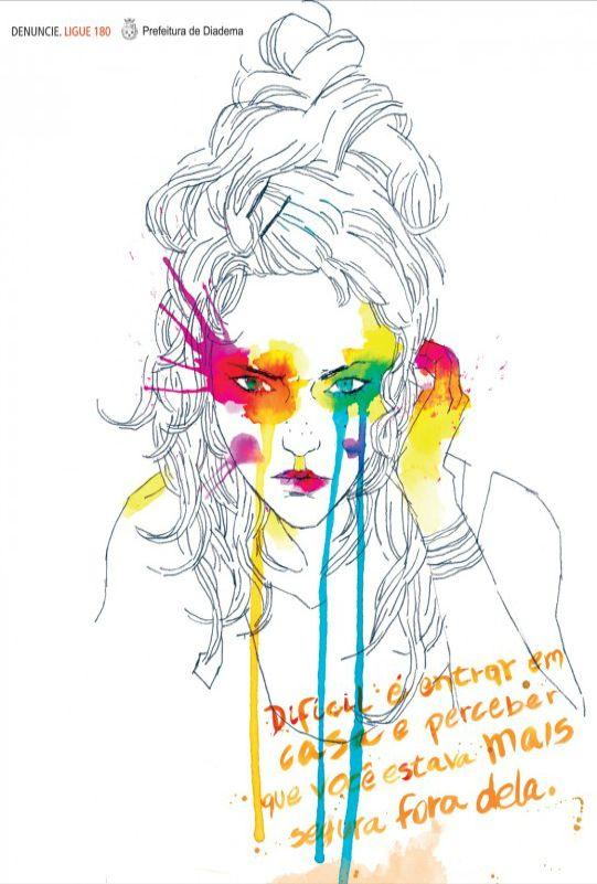 It is hard to go home and realize you are safer outside. #WomensDay #violence #women - Paz Comunicação Estratégica