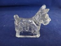 VINTAGE SCOTTY DOG GLASS CANDY CONTAINER