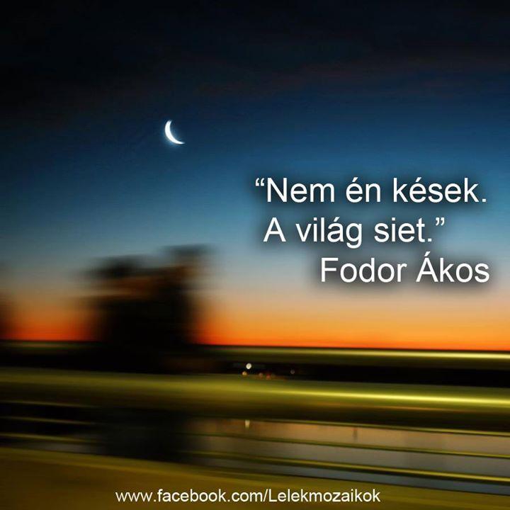 Fodor Ákos idézete az idő relativitásáról. A kép forrása: Lélekmozaikok # Facebook