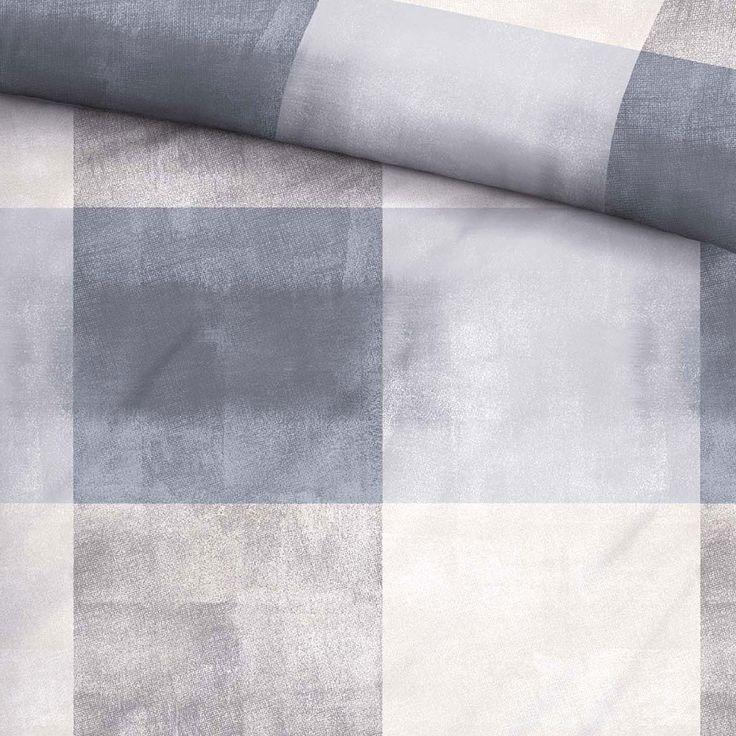 Biberna Edelflanell Bettwäsche Karo grau online kaufen