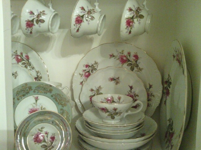Moss Rose Royal Sealy China (Japan) My cup and saucer