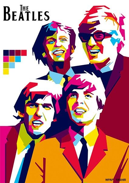The Beatles in Wedhas pop art potrait (WPAP