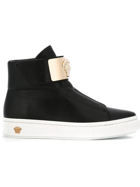 VERSACE Medusa Hi-Top Sneakers. #versace #shoes #sneakers