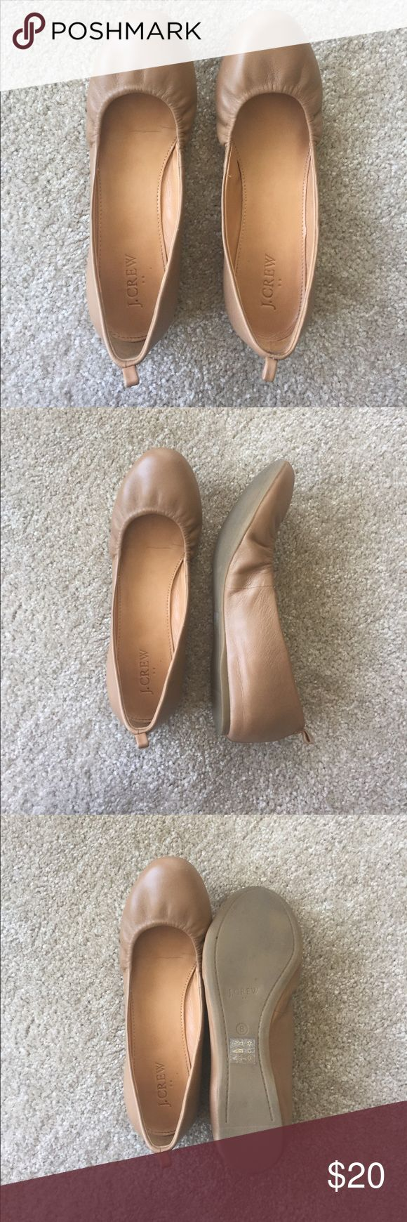 Weekend sale! ⚡️J. Crew camel leather ballet flats J. Crew camel leather flat in size 8. Good condition but I've worn a few times. Selling because they're a little too tight on me. J. Crew Shoes Flats & Loafers