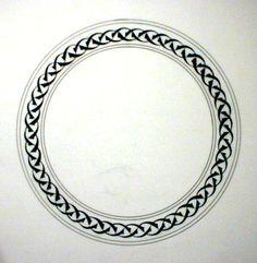 Tezhip border circle
