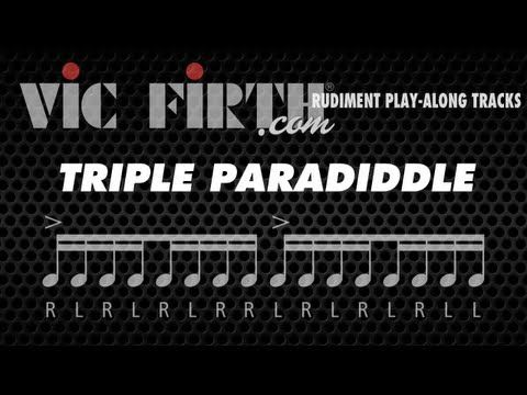 Triple Paradiddle: Vic Firth Rudiment Playalong - YouTube