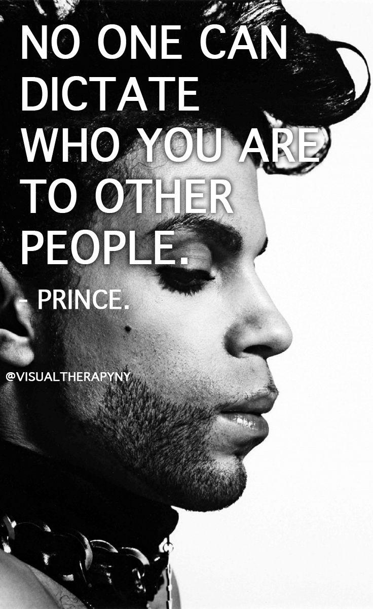 RIP Prince. #beyourself