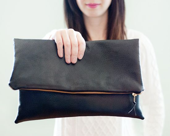 adorable DIY clutch. such a simple, gratifying project! via http://www.yellowbrickhome.com/2013/02/19/my-second-date-with-a-sewing-machine/
