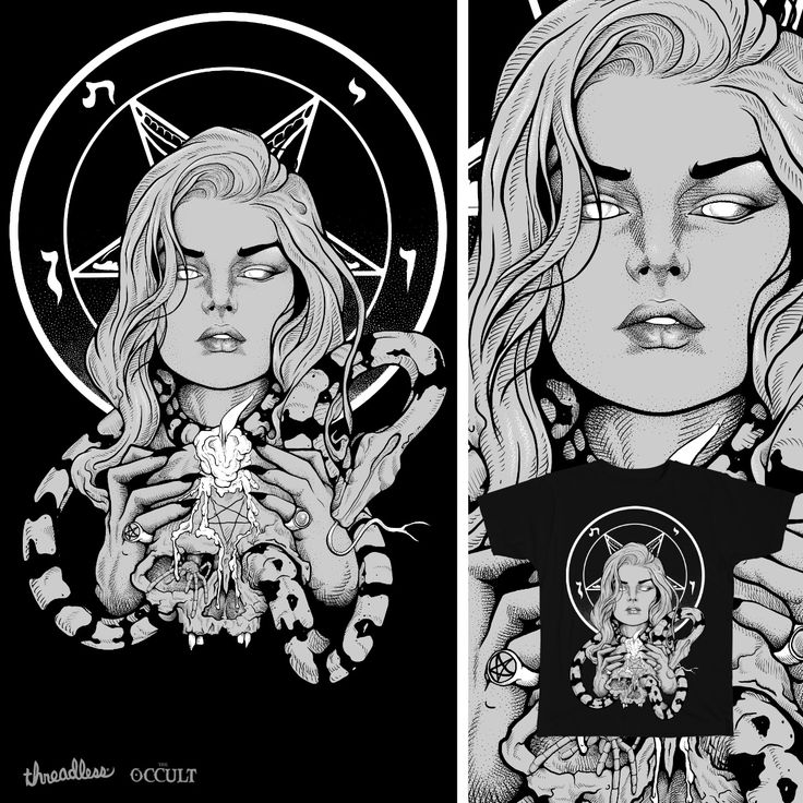 Black Mass Ritual - up for voting for Threadless' Occult theme
